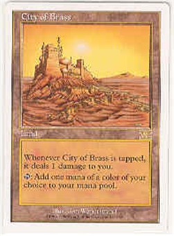 Magic the Gathering 6th Edition Single City of Brass UNPLAYED (NM/MT)