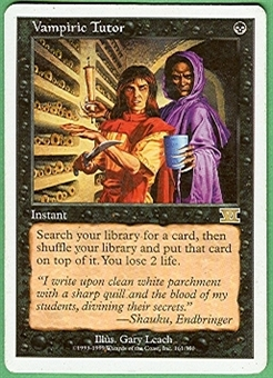 Magic the Gathering 6th Edition Single Vampiric Tutor LIGHT PLAY (NM)
