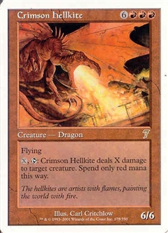 Magic the Gathering 7th Edition Single Crimson Hellkite UNPLAYED (NM/MT)