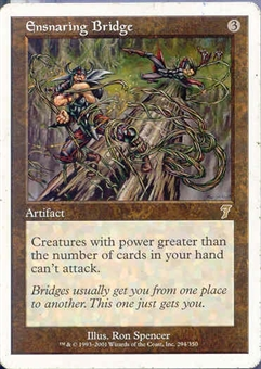 Magic the Gathering 7th Edition Single Ensnaring Bridge UNPLAYED (NM/MT)