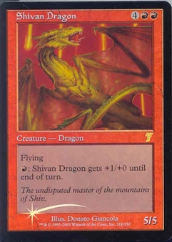 Magic the Gathering 7th Edition Single Shivan Dragon Foil