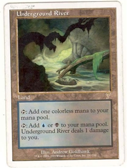 Magic the Gathering 7th Edition Single Underground River - SLIGHT PLAY (SP)