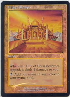 Magic the Gathering 7th Edition Single City of Brass Foil NEAR MINT (NM)