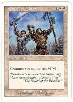 Magic the Gathering 7th Edition Single Glorious Anthem - NEAR MINT (NM)