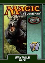 Magic the Gathering 7th Edition Way Wild Precon Theme Deck
