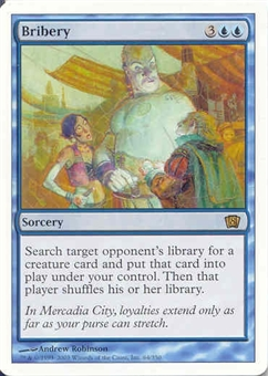 Magic the Gathering 8th Edition Single Bribery UNPLAYED (NM/MT)