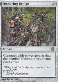 Magic the Gathering 8th Edition Single Ensnaring Bridge - NEAR MINT (NM)