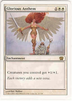 Magic the Gathering 8th Edition Single Glorious Anthem LIGHT PLAY (NM)