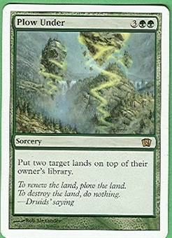 Magic the Gathering 8th Edition Single Plow Under - SLIGHT PLAY (SP)