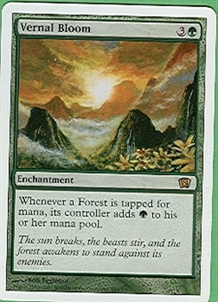 Magic the Gathering 8th Edition Single Vernal Bloom UNPLAYED (NM/MT)