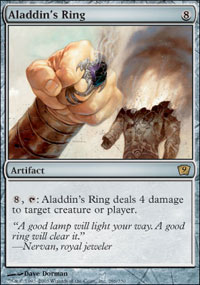 Magic the Gathering 9th Edition Single Aladdin's Ring - NEAR MINT (NM)