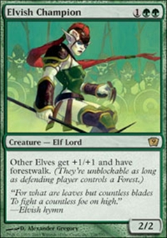 Magic the Gathering 9th Edition Single Elvish Champion - NEAR MINT (NM)