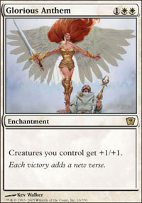 Magic the Gathering 9th Edition Single Glorious Anthem UNPLAYED (NM/MT)
