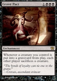 Magic the Gathering 9th Edition Single Grave Pact - SLIGHT PLAY (SP)