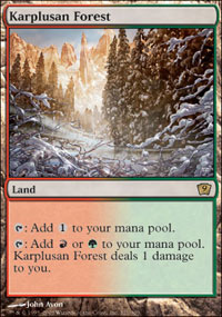 Magic the Gathering 9th Edition Single Karplusan Forest - NEAR MINT (NM)
