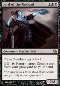 Magic the Gathering 9th Edition Single Lord of the Undead Foil