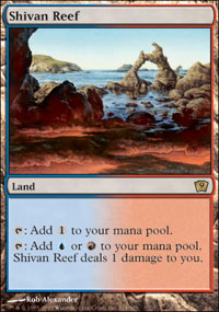 Magic the Gathering 9th Edition Single Shivan Reef - NEAR MINT (NM)