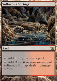 Magic the Gathering 9th Edition Single Sulfurous Springs UNPLAYED (NM/MT)