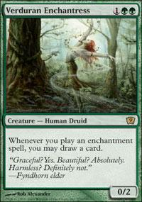 Magic the Gathering 9th Edition Single Verduran Enchantress UNPLAYED (NM/MT)