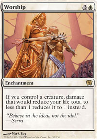 Magic the Gathering 9th Edition Single Worship Foil