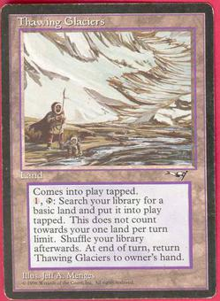 Magic the Gathering Alliances Single Thawing Glaciers MODERATE PLAY (VG/EX)