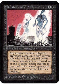 Magic the Gathering Alpha Single Animate Dead UNPLAYED (NM/MT)