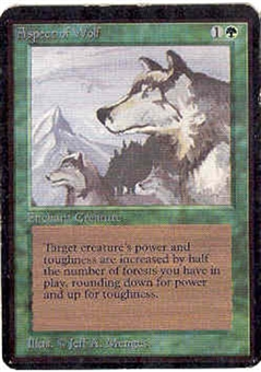 Magic the Gathering Alpha Single Aspect of Wolf UNPLAYED (NM/MT)