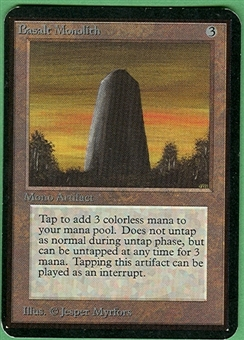 Magic the Gathering Alpha Single Basalt Monolith LIGHT PLAY (NM)