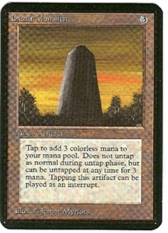 Magic the Gathering Alpha Single Basalt Monolith - NEAR MINT (NM)