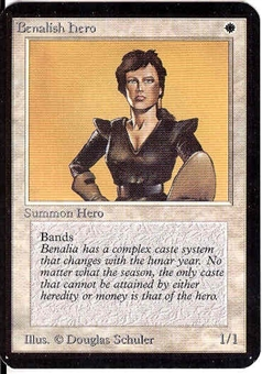 Magic the Gathering Alpha Single Benalish Hero - NEAR MINT (NM)