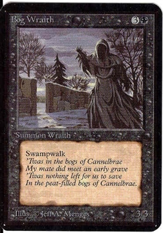 Magic the Gathering Alpha Single Bog Wraith - NEAR MINT (NM)