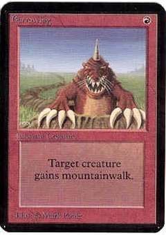 Magic the Gathering Alpha Single Burrowing - NEAR MINT (NM)
