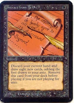 Magic the Gathering Alpha Single Contract from Below - NEAR MINT (NM)