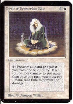 Magic the Gathering Alpha Single Circle of Protection: Blue - NEAR MINT (NM)