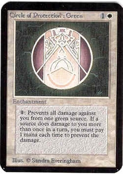 Magic the Gathering Alpha Single Circle of Protection: Green - NEAR MINT (NM)