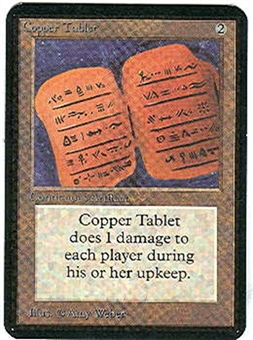 Magic the Gathering Alpha Single Copper Tablet - NEAR MINT (NM)