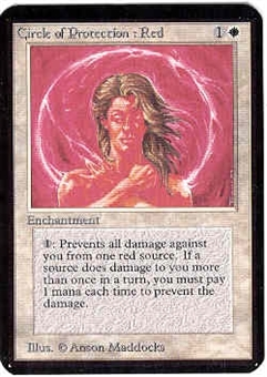 Magic the Gathering Alpha Single Circle of Protection: Red UNPLAYED (NM/MT)