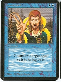 Magic the Gathering Alpha Single Counterspell - SLIGHT PLAY (SP)
