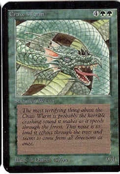 Magic the Gathering Alpha Single Craw Wurm - SLIGHT PLAY (SP)