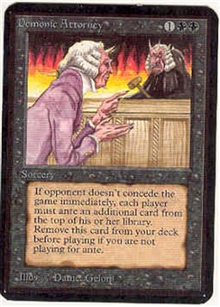 Magic the Gathering Alpha Single Demonic Attorney UNPLAYED (NM/MT)