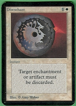 Magic the Gathering Alpha Single Disenchant - SLIGHT PLAY (SP)