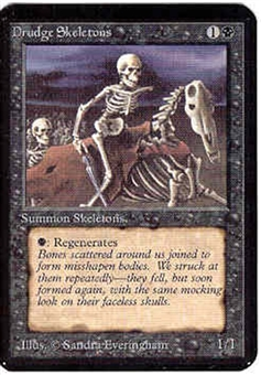 Magic the Gathering Alpha Single Drudge Skeletons - NEAR MINT (NM)