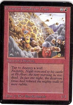 Magic the Gathering Alpha Single Dwarven Demolition Team - NEAR MINT (NM)