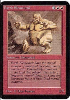 Magic the Gathering Alpha Single Earth Elemental - NEAR MINT (NM)