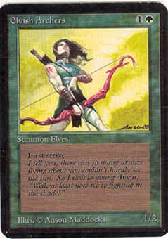 Magic the Gathering Alpha Single Elvish Archers - NEAR MINT (NM)