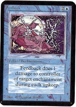 Magic the Gathering Alpha Single Feedback UNPLAYED (NM/MT)