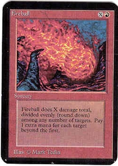 Magic the Gathering Alpha Single Fireball - NEAR MINT (NM)