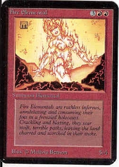 Magic the Gathering Alpha Single Fire Elemental - NEAR MINT (NM)
