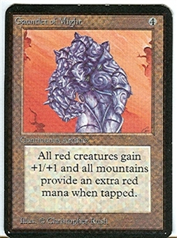 Magic the Gathering Alpha Single Gauntlet of Might UNPLAYED (NM/MT)