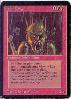 Magic the Gathering Alpha Single Goblin King LIGHT PLAY (NM)